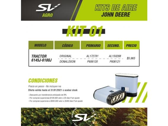 Kit Filtros De Aire John Deere