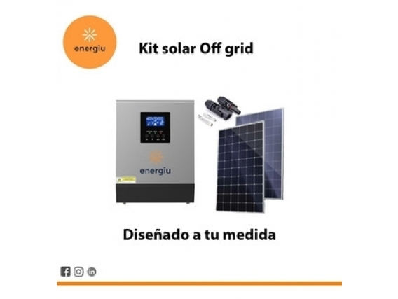 Kit Solar Completo Energiu Inversor 4000W Paneles 300W 12000 W/día