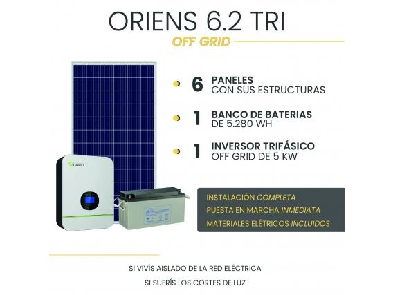 Kit Solar Off Grid - Oriens 6.2 Tri - Con Instalación