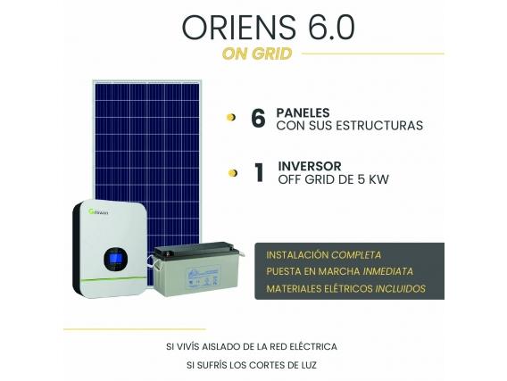 Kit Solar On Grid - Oriens 6.0 - Instalación Incluida