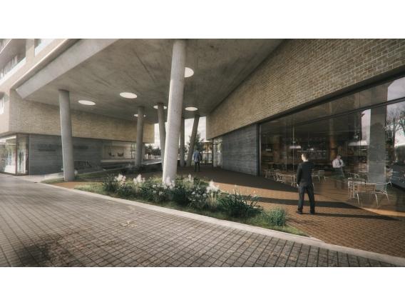 Local Comercial Frente Velez Sarfield 90 m2 en Condo Refinería Emprendimiento Inmobiliario Rosario 00-10