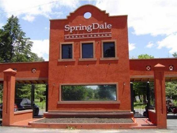 Lote En Venta. Springdale, Pilar, Bs As. 805 M2