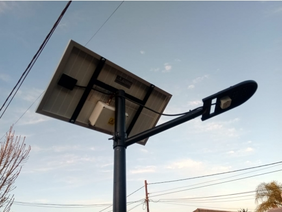 Lámpara Calle 14W C/panel Incorporado S/ Poste.-
