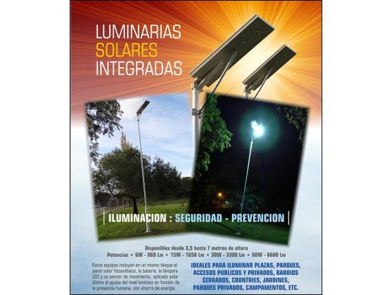 Luminarias Solares Integradas 50W - 5500 Lm