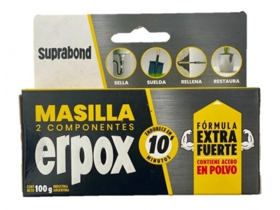 Masilla Suprabond Erpox Acero