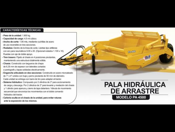 Pala De Arrastre Hidráulica Tbeh Pa 4500