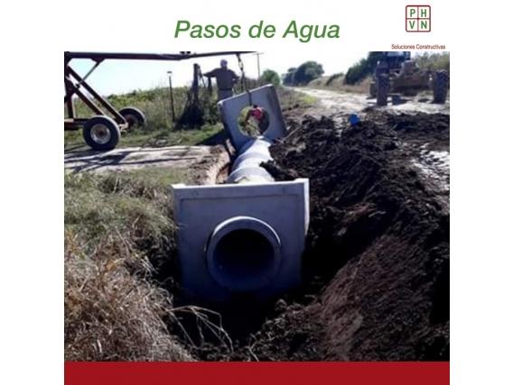 Paso De Agua 6,00 Mts Alcantarilla Circular 0,80 X 1,25