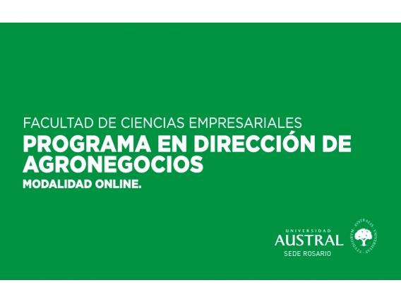 Programa De Dirección En Agronegocios
