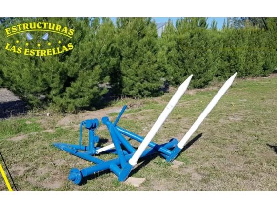 Pinche Transportador De Rollos Con Malacate Mecánico