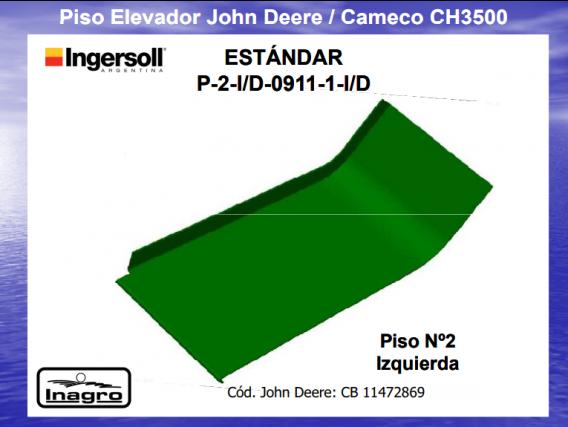Piso Elevador Ingersoll Estándar P-2-I/d-0911-1-I/d