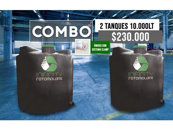 Combo Tanque Cilíndrico Vertical 10000L