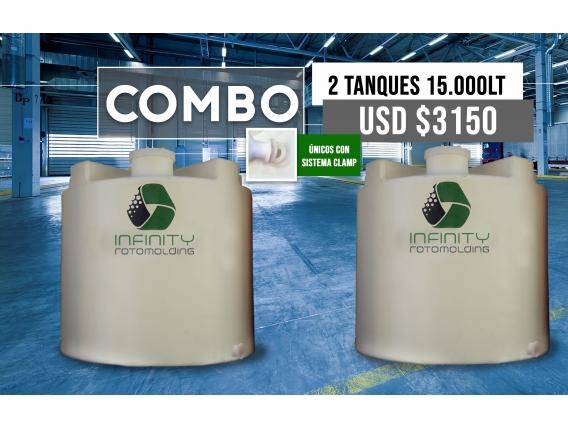 Combo Tanque Cilíndrico Vertical 15000L