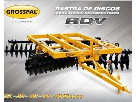 Rastra De Disco Grosspal Rdv 48.000 Doble Acción
