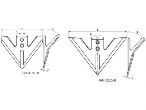 Repuesto Para Escardillos Ingersoll Para Arcos Tipo