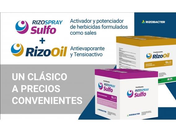 Rizo Oil Y Rizospray Sulfo Pallet Mixto 480 Lts De C/u