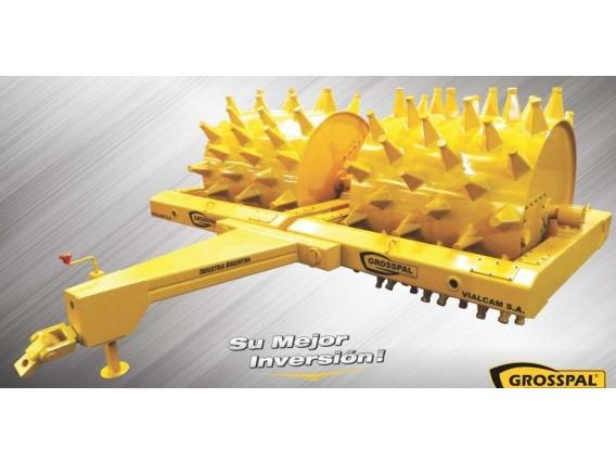 Rolo Compactador Grosspal Rcv 2400 Pata De Cabra