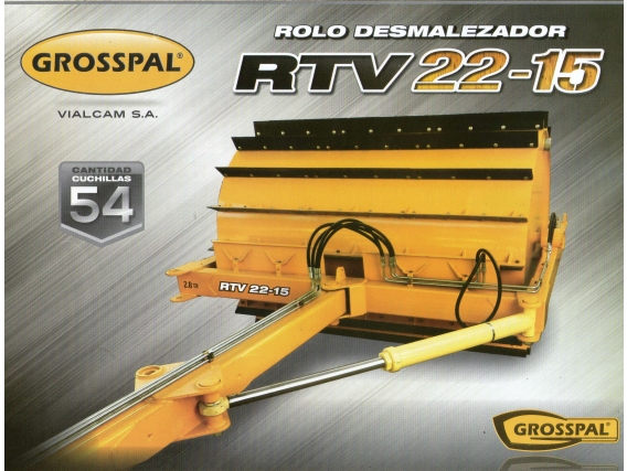 Rolo Desmalezador Rtv 22-15. Grosspal Nuevo