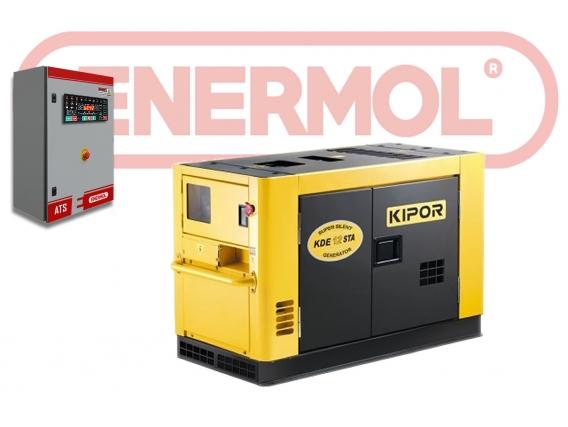 Grupo Electrógeno Insonoro Enermol 10 Kva