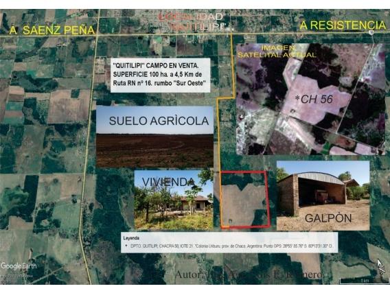 Campo 100 Has Agricolas - Quitilipi - Dolar Oficial