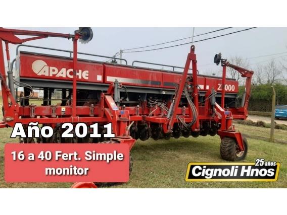 Sembradora Apache 27000 De 16 A 40 Cm, Monitor, Fert
