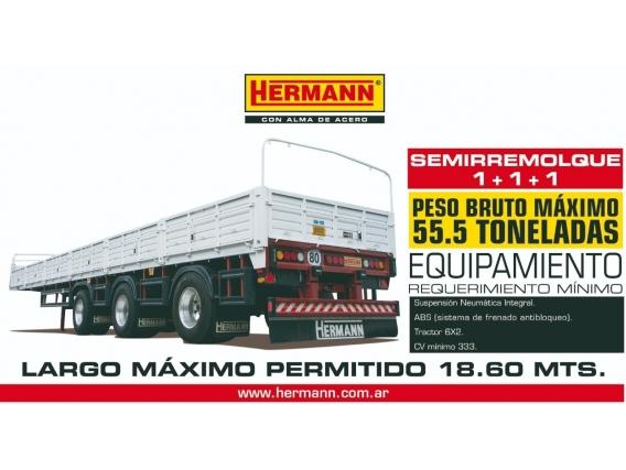Semi 1-1-1 Baranda Volcable Hermann 55,5 Tn Disponible