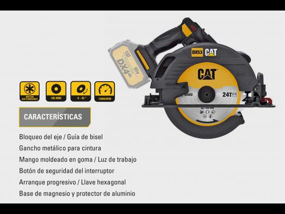 Sierra Circular Cat Dx53B A Bateria18 V