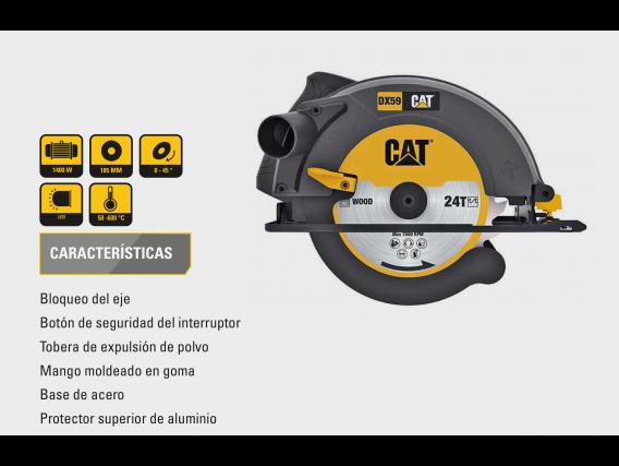 Sierra Circular Cat Dx59 1400W