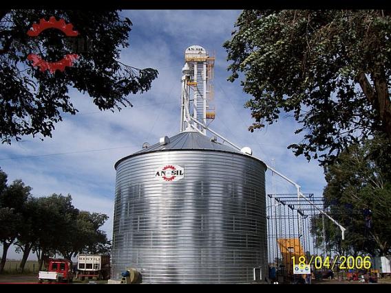 Silo Ansil Base De Hormigón Fondo Cónico 750Tn Trigo