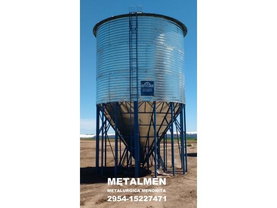 Silo Para Fertilizante Metalmen Con Epoxi 40 Ton