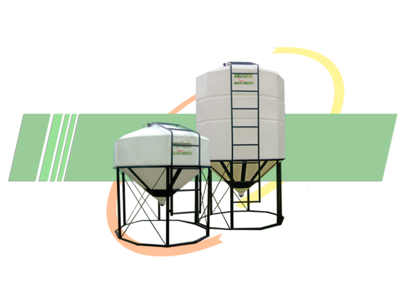 Silos Plásticos Rotor Con Base Metálica