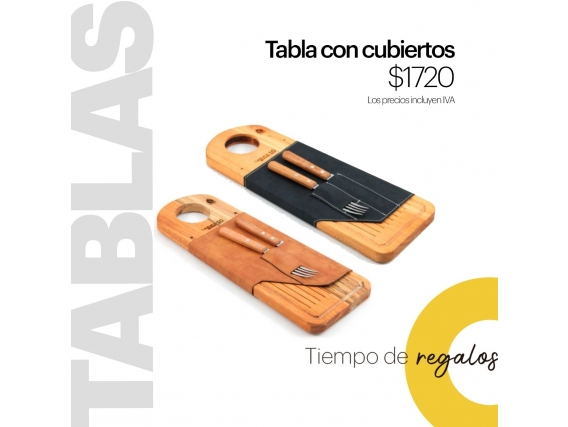 Tabla Con Cubiertos