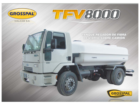 Tanq Reg Fibra De Vidrio Sob Camión Grosspal Tfv 8000