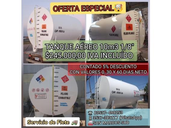 Tanque Aéreo 10.000 Lts De Capacidad