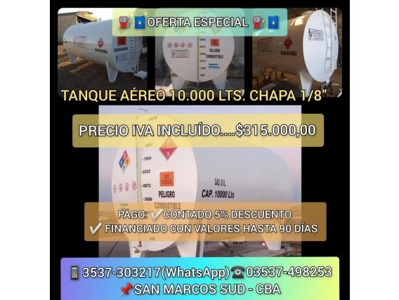 Tanque Aéreo De 10.000 Lts De Capacidad