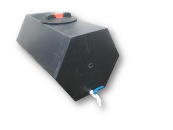 Tanque Exagonal Orizontal Termoplástica Pauma 90 Lts