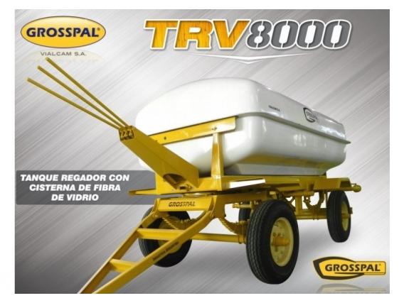 tanque regador con cisterna de fibra grosspal trv 8000