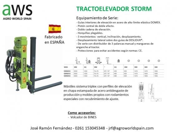 Tractoelevador Storm Para El Tercer Punto Del Tractor