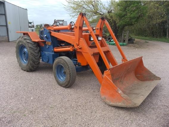 Tractor Fiat 4550 Con Pala Cargadora Basculante