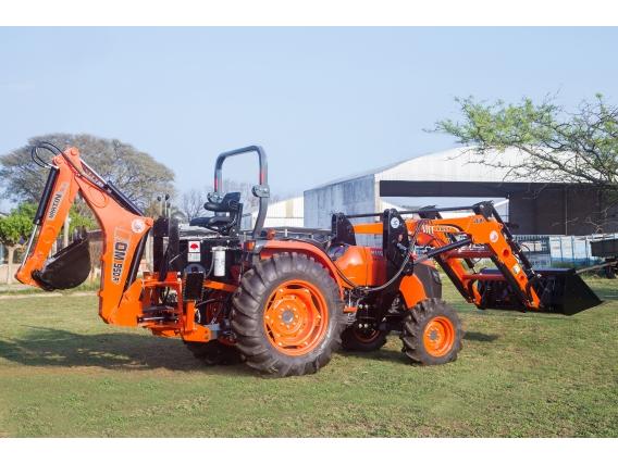 Tractor Japonés Kubota Con Pala Retroexcavadora