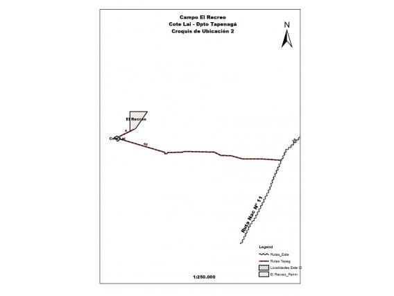 Vendo Campo 1235 Has - Tapenaga, Cote Lai, Chaco, Arg -