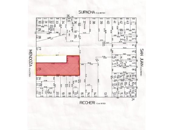 Venta Terreno 1232 M2 - Mendoza 2900