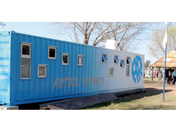 Vestuario En Container Box House 40 Pies Rafaela