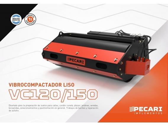 Vibrocompactador Liso Pecarí Vc 120/150 Para Mini