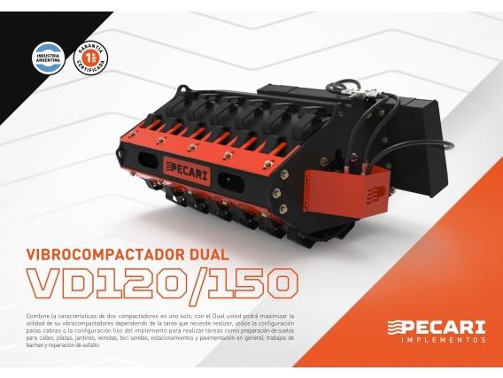 Vibrocompactadora Dual Pecari Vd 120/180 - Minicargador