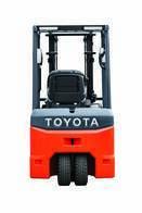 Autoelevador Toyota 48V 3 Ruedas 1 Tonelada