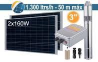 Bomba Sumergible Solar (Tornillo) Seif Energy 3SPST1.3/50-D24/140 - 2x160W