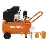 Compresor Insagr 2.5 HP 50 Litros con Kt de 3 Piezas