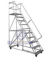 Escalera Movil Rodante Tipo Burro 4 Mts Metalforte