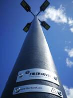 Luminaria Led Solar Reflector Fiberkuvet 120W Aluminio