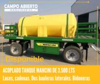 Acoplado Tanque Mancini De 3.500 Lts Con Portabidonera